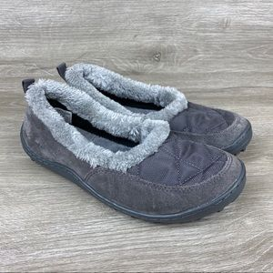 Columbia Powder Summit Moc Gray Slippers Mocs US 6